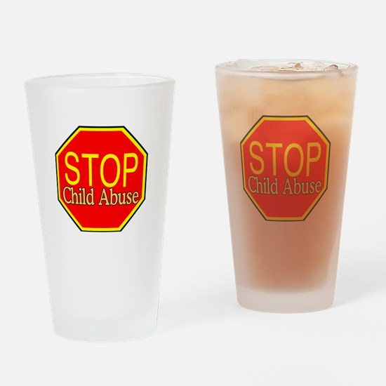 Stop Abuse Pint Glass