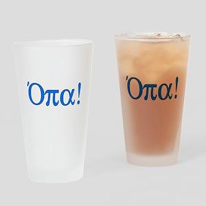Opa (in Greek) Pint Glass