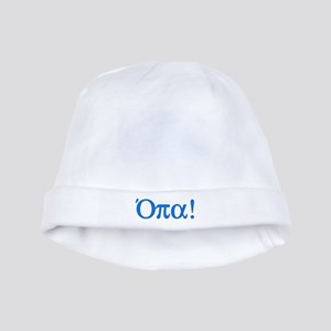 Opa (in Greek) baby hat