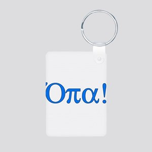 Opa (in Greek) Aluminum Photo Keychain