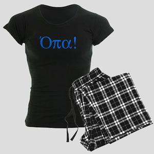Opa (in Greek) Women's Dark Pajamas