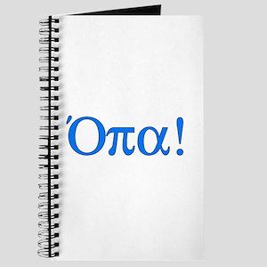 Opa (in Greek) Journal