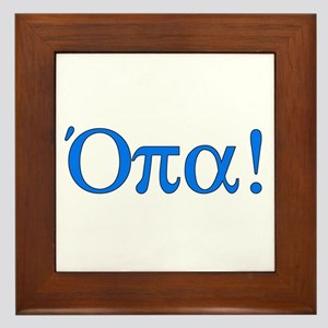 Opa (in Greek) Framed Tile