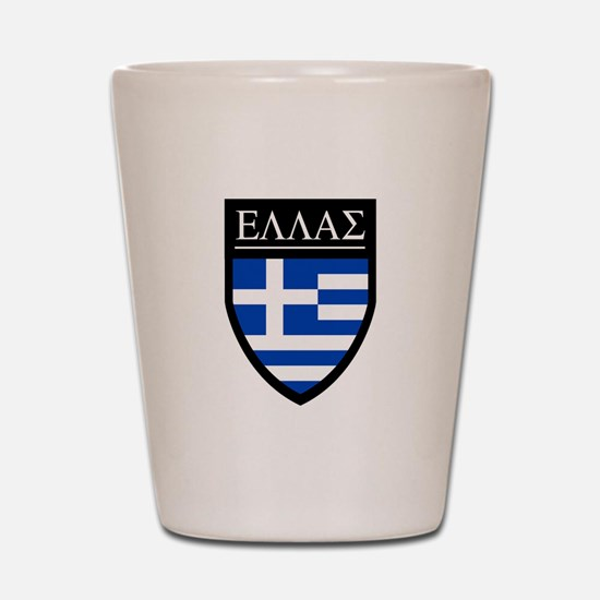 Greece (Greek) Patch Shot Glass