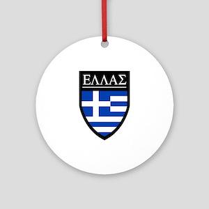 Greece (Greek) Patch Ornament (Round)