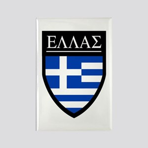 Greece (Greek) Patch Rectangle Magnet