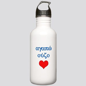 I Love Ouzo (Greek) Stainless Water Bottle 1.0L
