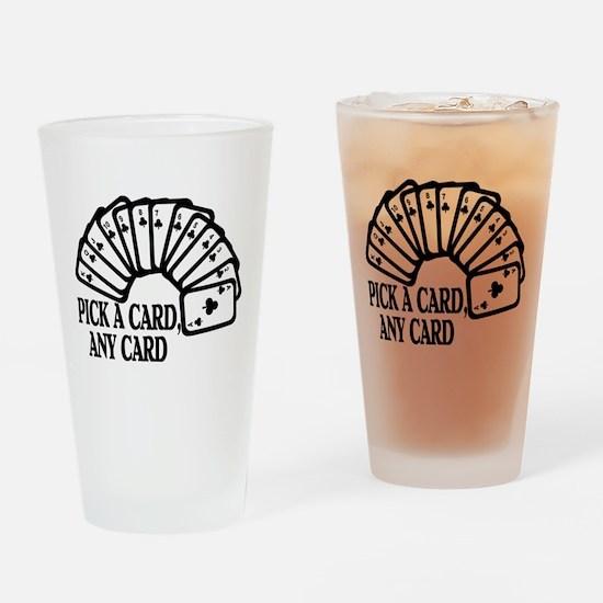 Pick A Card Pint Glass