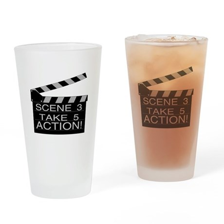 Action Pint Glass