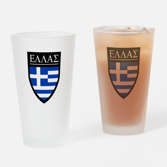 Greece (Greek) Patch Pint Glass
