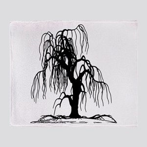 Weeping Willow Tree Throw Blanket