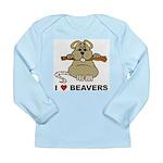 I Love Beavers Long Sleeve Infant T-Shirt