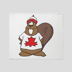 Canada Beaver Throw Blanket