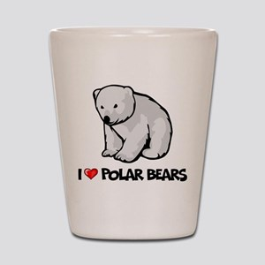 I Love Polar Bears Shot Glass