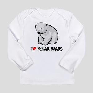 I Love Polar Bears Long Sleeve Infant T-Shirt