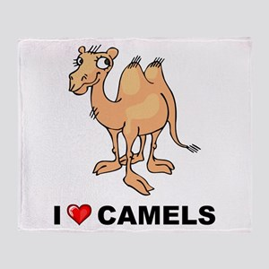 I Love Camels Throw Blanket
