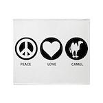 Peace Love Camel Throw Blanket