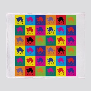 Pop Art Camel Throw Blanket