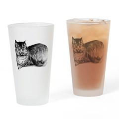 Hand Drawn Cat Pint Glass