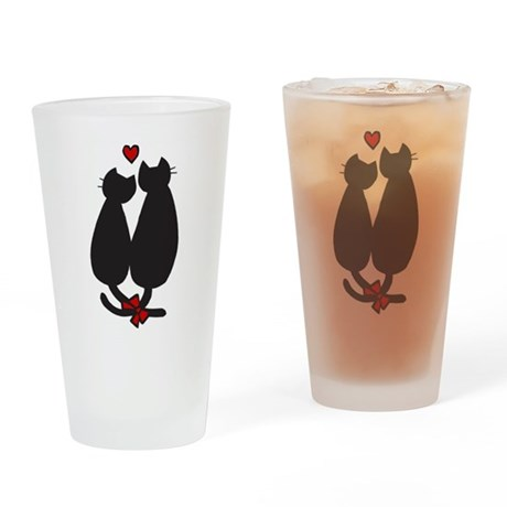 Cats In Love Pint Glass
