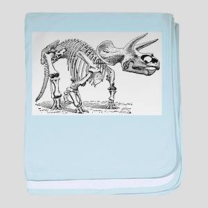 Triceratops Skeleton baby blanket