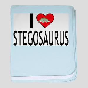 I Love Stegosaurus baby blanket