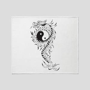 Yin Yang Dragon Throw Blanket