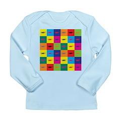 Pop Art Dragon Long Sleeve Infant T-Shirt
