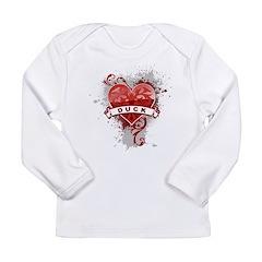 Heart Duck Long Sleeve Infant T-Shirt