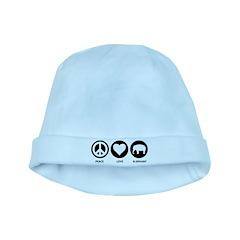Peace Love Elephant baby hat