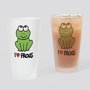 I Love Frogs Pint Glass