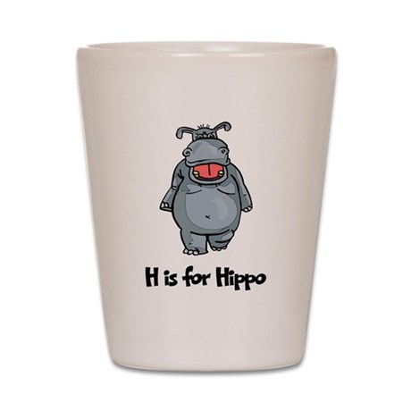 H is for Hippo Shot Glass