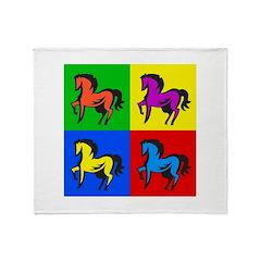 Pop Art Horse Throw Blanket