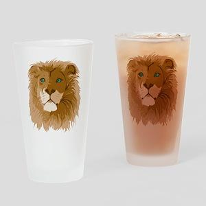 Realistic Lion Pint Glass