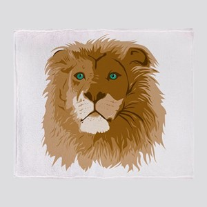 Realistic Lion Throw Blanket