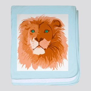 Realistic Lion baby blanket