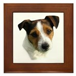 Jack Russell Watercolor Framed Tile