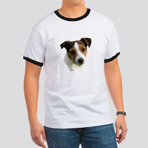 Jack Russell Watercolor Ringer T