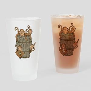 Barrel Monkey Pint Glass