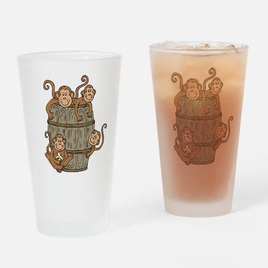 Barrel Monkey Pint Glass