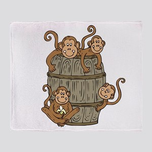 Barrel Monkey Throw Blanket