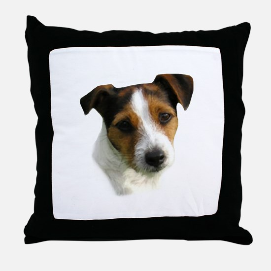 Jack Russell Watercolor Throw Pillow