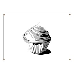 Grey cupcake Banner