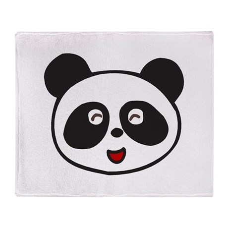 Cute Panda Face Throw Blanket