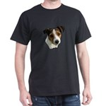 Jack Russell Watercolor Black T-Shirt