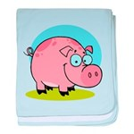 Happy Pig baby blanket