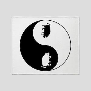 Yin Yang Pig Throw Blanket