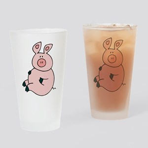 Cute Pig Pint Glass
