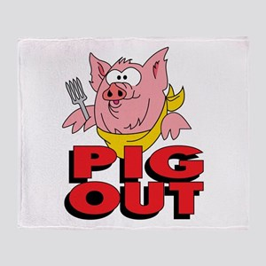 Pig Out Throw Blanket