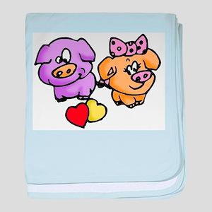 Pigs In Love baby blanket
